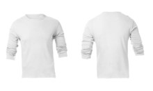 Men's White Long Sleeve T-shir...
