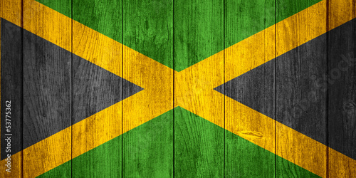 flag of Jamaica Wallpaper Mural