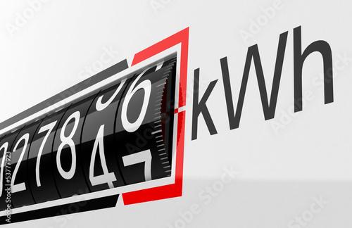 Photo  Der Stromzähler