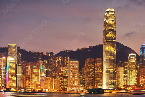Photo  Evening asia city