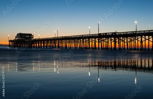 Staande foto Los Angeles newport beach pier sunset