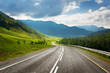 canvas print picture - highland road