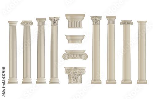 Fotografie, Obraz set of classic columns