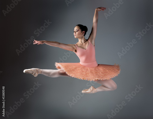 Canvastavla Female ballet dancer