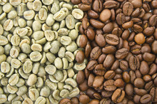 Coffee Beans Raw And Toasted C...