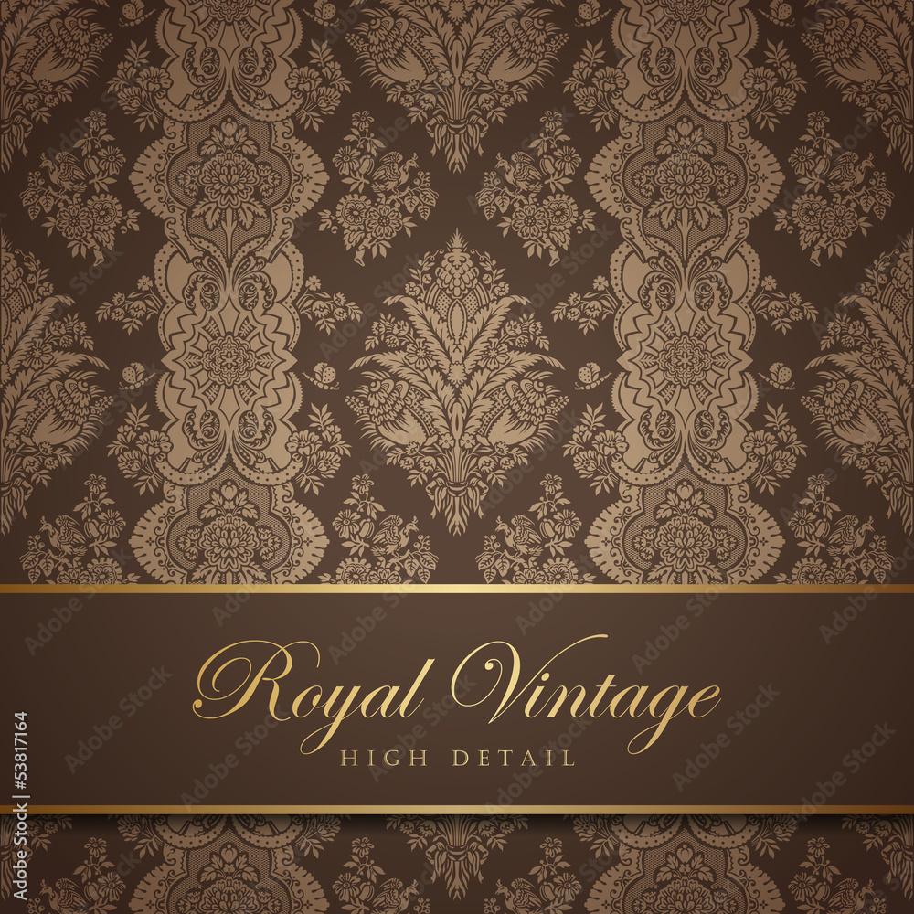 Vintage wallpaper design. Flourish background. Floral pattern