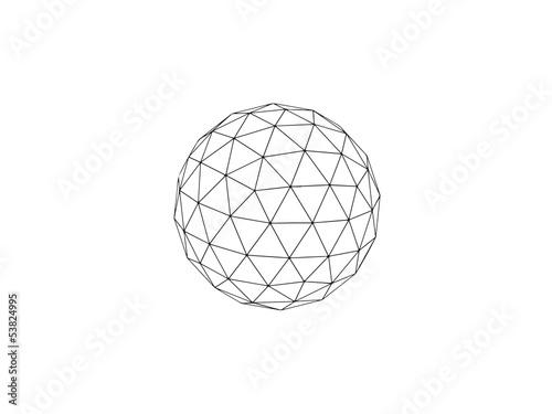 Fotografia  geodesic sphere line drawing