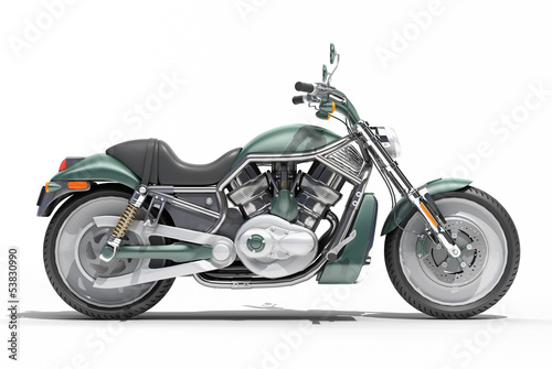 Foto op Canvas Motorfiets Classic motorcycle isolated