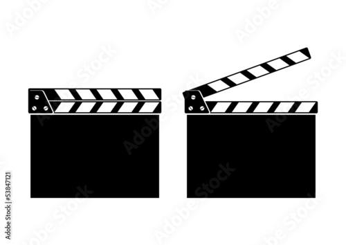 Vászonkép Movie clapper