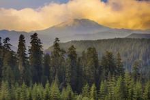 Sunset Over Mount St Helens