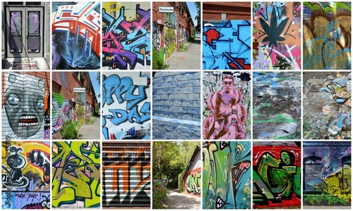 Acrylic Prints Graffiti collage collage...graffiti