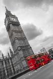 Fototapeta Big Ben - Big Ben e autobus a due piani, Londra