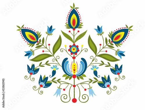 polski-wzor-z-ozdobnymi-kwiatami