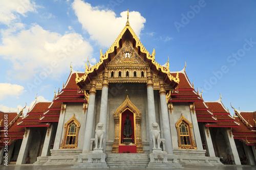 Photo  Wat Benchamabophit, bangkok, thailand
