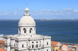 Santa Engracia Dome with the River Tagus in Lisbon, Portugal