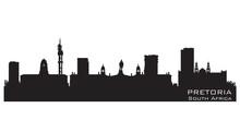 Pretoria South Africa Skyline Detailed Vector Silhouette
