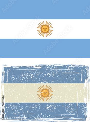 Fotografie, Obraz  Argentine grunge flag. Vector illustration.