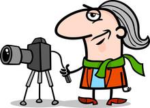 Photographer Artist Cartoon Illustration
