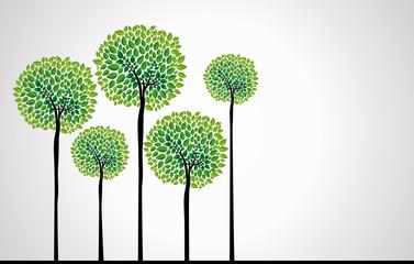 FototapetaTrendy concept trees vector