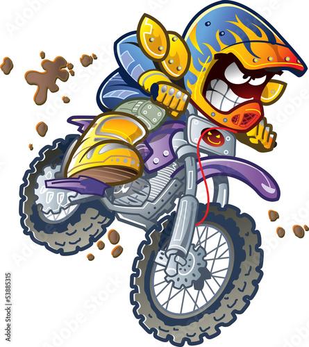 Poster Motocyclette BMX Dirt Bike Rider