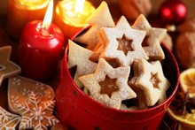 Christmas Cookies, Candles And Decorations