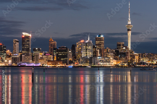 Auckland CBD at night Wallpaper Mural