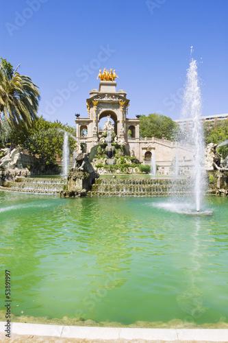 Papiers peints Barcelona Fountain in Parc De la Ciutadella in Barcelona, Spain