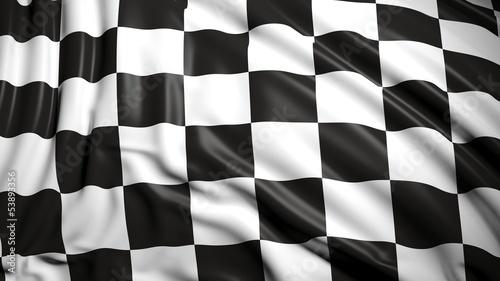 Foto op Plexiglas F1 Finishing checkered flag