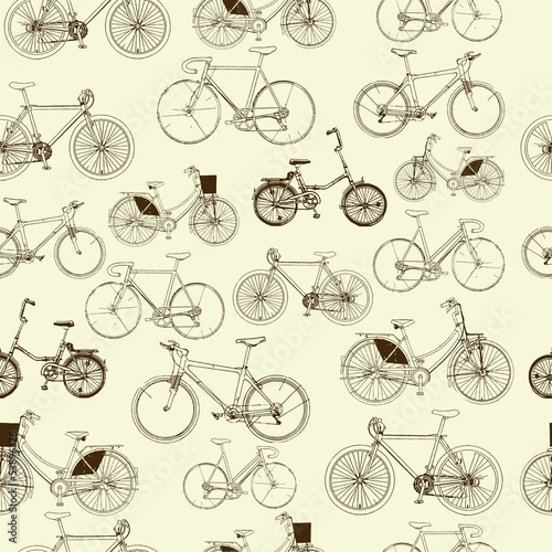 bicycles-seamless-pattern