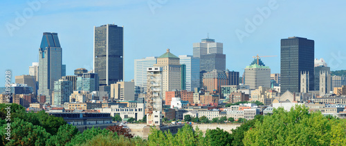Poster New York Montreal day view panorama