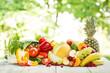 canvas print picture - Gemischtes Obst und Gemüse