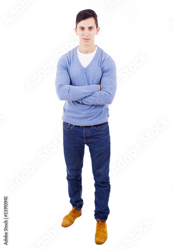 78cb0745649 young casual man full body in a white background - Buy this stock ...