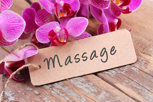 Garden Poster Orchid Massage - Label und Orchideen