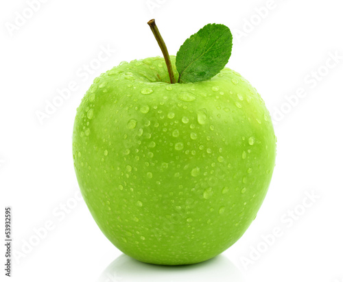 Fototapeta Mokre zielone jabłko obraz