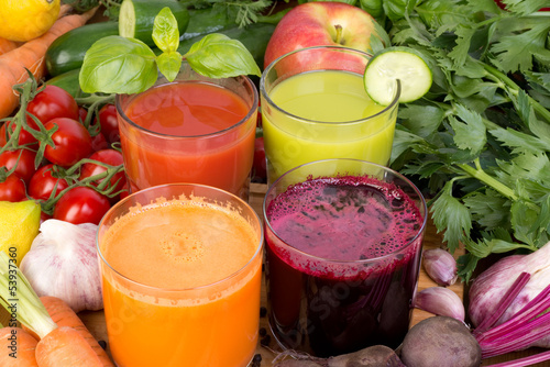 Keuken foto achterwand Sap Vegetable juice