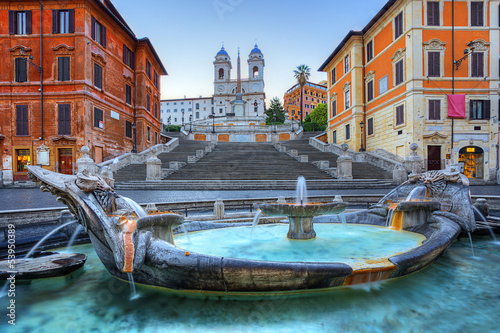 Foto op Canvas Rome The Spanish Steps in Rome