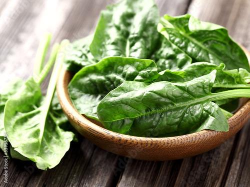Valokuvatapetti Fresh spinach
