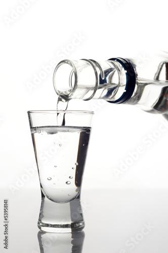 Photo Vodka poured into a glass