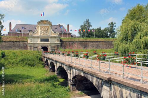 Tableau sur Toile Lille - Citadelle de Vauban !Porte royale)