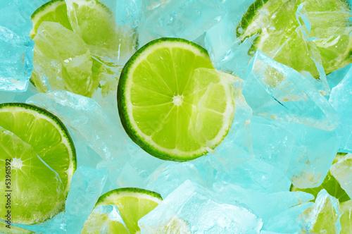 Poster Dans la glace lime & ice