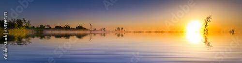 Poster Texas Sunrise Lake Panorama