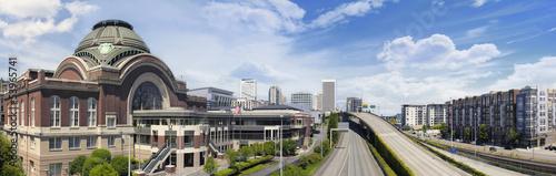 Obraz na płótnie Freeways to City of Tacoma Washington