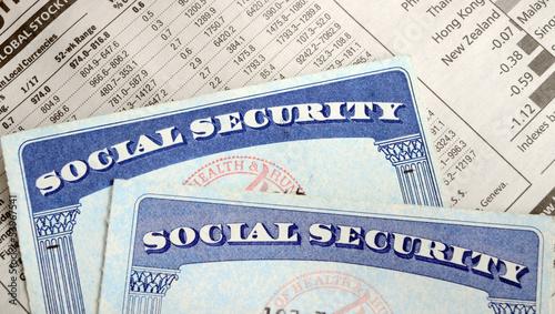 Fototapeta Social Security and retirement income obraz