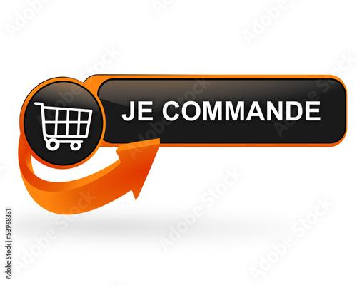 Photo je commande sur bouton web design orange