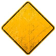 Rusty Yellow Sign