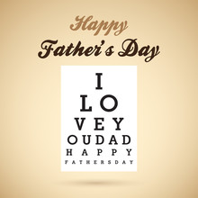 Happy Father's Day Eye Test Chart.