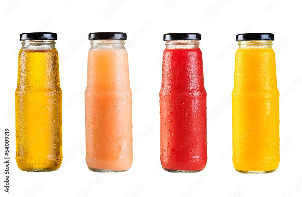 Fototapeta different bottles of juice