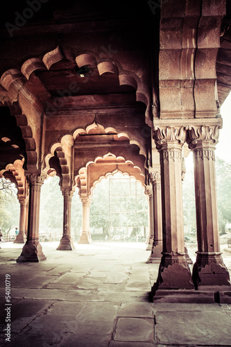 Stickers pour portes Delhi Red Fort (Lal Qila) Delhi - World Heritage Site. Delhi, India