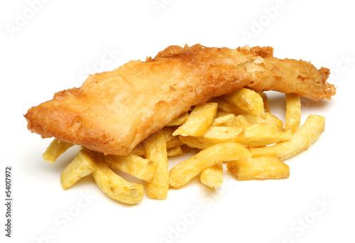 Foto auf AluDibond Fisch Fish & Chips