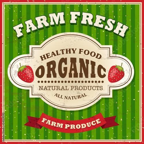 Papiers peints Affiche vintage Retro Farm Fresh Poster Design
